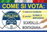 Il 20-21 SETTEMBRE BARRA IL SIMBOLO DI FRATELLI D'ITALIA E SCRIVI SCARDILLO MONTAGNANA