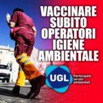 """ROMA, ANDRINI (UGL) : """"VACCINARE SUBITO OPERATORI IGIENE AMBIENTALE"""""""