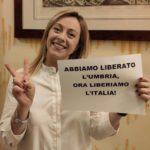 ELEZIONI REGIONALI UMBRIA: Giorgia Meloni con Fratelli d'Italia al 10,4% ed è l'unico partito a CRESCERE
