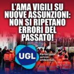 """ROMA, IANNARILLI (UGL): """"AMA VIGILI SU NUOVE ASSUNZIONI, NON SI RIPETANO ERRORI DEL PASSATO"""""""
